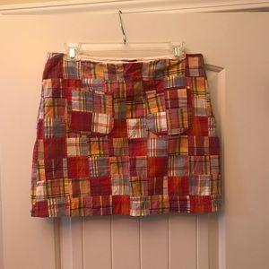 J. Crew patchwork skirt size 4